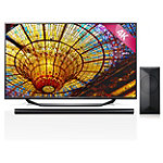 LG 60' 4K Ultra HD webOS Smart TV with Soundbar and Wireless Subwoofer 1799.99