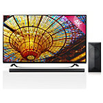 LG 60' 4K Ultra HD 3D webOS Smart TV with Soundbar and Wireless Subwoofer 1999.99