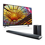 LG 60' 4K Ultra HD 3D webOS Smart TV with FREE 320-Watt 2.1-Channel Soundbar with Wireless Subwoofer 1799.99