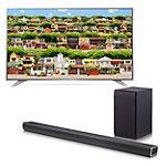 """LG 60"""" 4K Ultra HD webOS 3.0 Smart TV with FREE 320-Watt 2.1-Channel Soundbar with Wireless Subwoofer"""