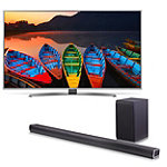 LG 60' 4K HDR Super Ultra HD webOS 3.0 Smart TV with Soundbar and Wireless Subwoofer