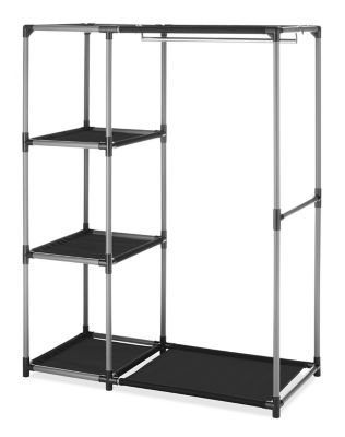 Whitmor Spacemaker Garment Rack with Shelves