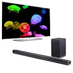 LG 65' 4K Ultra HD 3D webOS OLED Smart TV with FREE 4.1-Channel Soundbar and Wireless Subwoofer