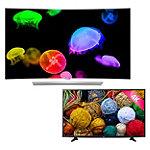 LG 65' Curved 4K Ultra HD 3D webOS OLED Smart TV with FREE 43' 4K Ultra HD webOS Smart TV