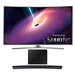Samsung 65' Curved 4K SUHD 3D Smart TV with 6.1 Channel Curved Soundbar and Wireless Subwoofer