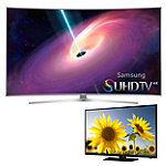 Samsung 65' Curved 4K SUHD 3D Smart TV with FREE 40' 1080p LED HDTV