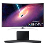 Samsung 65' Curved 4K SUHD 3D Smart TV with 9.1 Channel Curved Soundbar and Wireless Subwoofer