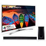 LG 65' 4K HDR Super Ultra HD 3D webOS 3.0 Smart TV with FREE 2.1 Channel Soundbar and Subwoofer
