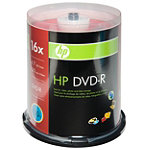HP DVD-R 100-Pack Spindle 22.95