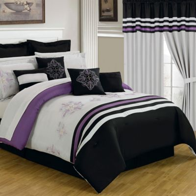 Lavish Home 24-Piece Rachel Queen Bedroom Set