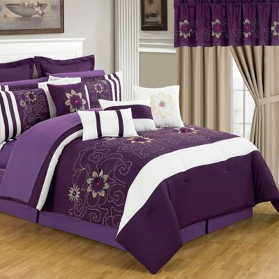 Lavish Home 25-Piece Amanda King Bedroom Set