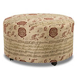 Corinthian Milan Round Ottoman with Casters 299.00