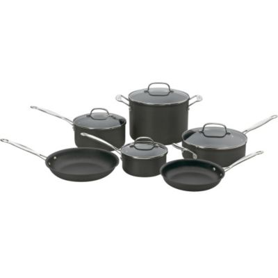 Cuisinart Chef's Classic™ Non-Stick Hard Anodized 10-Piece Cookware Set