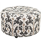 Cane Ottoman with Casters