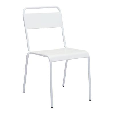 Zuo Modern White Oh Dining Chairs Set of 2