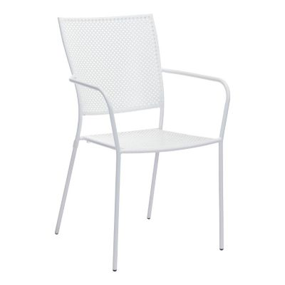 Zuo Modern White Pom Dining Chairs Set of 2