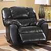 Home Solutions Dylan DuraBlend® Black Rocker Recliner