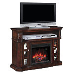 Classic Flame Espresso Bellemeade Stand for TVs up to 60' with 23' Infrared Quartz Fireplace