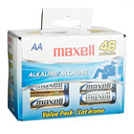 Maxell AA Alkaline Battery 48-Pack 9.99
