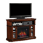 Classic Flame Aberdeen Stand for TVs up to 60' or 100 lbs with 23' Infrared Quartz Fireplace