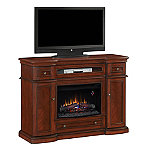 Classic Flame Montgomery Stand for TVs up to 65' or 115 lbs. with 26' Infrared Quartz Fireplace