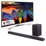 LG 75' 4K HDR Super Ultra HD 3D webOS 3.0 Smart TV with Soundbar and Wireless Subwoofer