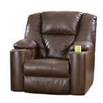 Home Solutions DuraBlend® Leather Home Theater Power Recliner No price available.