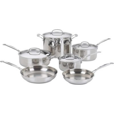 Cuisinart Chef's Classic™ Stainless Steel 10-Piece Cookware Set