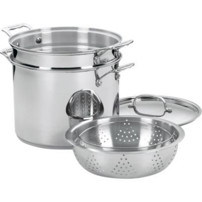 Cuisinart Chef's Classic™ Stainless Steel 12-Quart Pasta/Steamer 4-Piece Set
