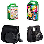 Fuji Instax Black Mini 8 Camera with Case and Film