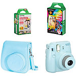 Fuji Instax Blue Mini 8 Camera with Case and Film