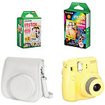 Fuji Instax Yellow Mini 8 Camera with Case and Film