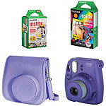 Fuji Instax Grape Mini 8 Camera with Case and Film