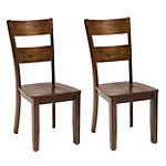 Holland House Kendall Espresso Chairs Set of 2 115.00