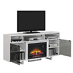 Classic Flame White Stand for TVs up to 80' with 26' Infrared Quartz Fireplace