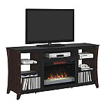 Classic Flame Marlin Stand for TVs up to 70' with 26' Infrared Quartz Fireplace