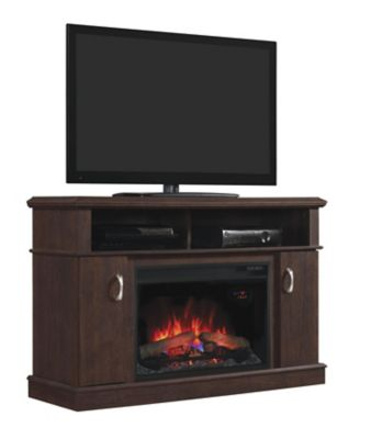 Classic Flame Midnight Cherry Fireplace Stand for TVs Up to 50