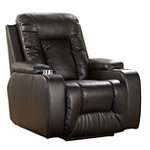 Home Solutions Ebony DuraBlend® Power Home Theater Recliner
