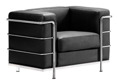 Zuo Modern Black Fortress Arm Chair