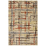 Mohawk Painted Lines Linen 5'x 8' Rug 99.00