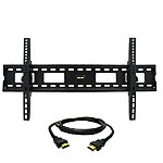 MegaMounts Tilt Wall Mount with HDMI Cable for Most 37'-80' TVs