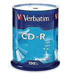 Verbatim CD-R 100-Pack Spindle 29.95