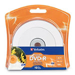 Verbatim White Inkjet Printable DVD-R 10-Pack 6.95