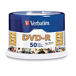 Verbatim DVD-R 50-Pack Spindle 14.95