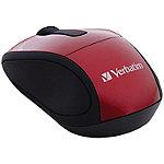 Verbatim Red Wireless Mini Travel Mouse