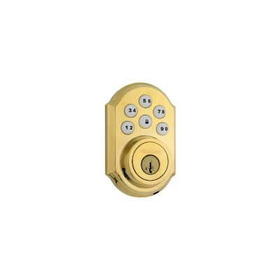 Kwikset Polished Brass Traditional Deadbolt