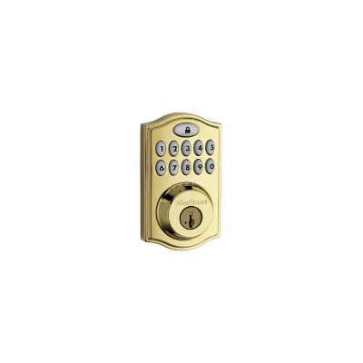 Kwikset Polish Brass Z-Wave Deadbolt