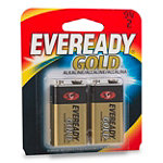 Eveready® Gold® 9v Alkaline Battery 2-Pack 4.99