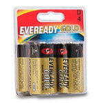 Eveready® Gold® D Alkaline Battery 4-Pack 4.99