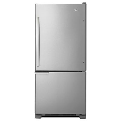 Amana 18.5 Cu. Ft. Stainless Steel Bottom-Freezer Refrigerator
